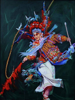 Painting - Dan Chinese Opera by Richard Barone