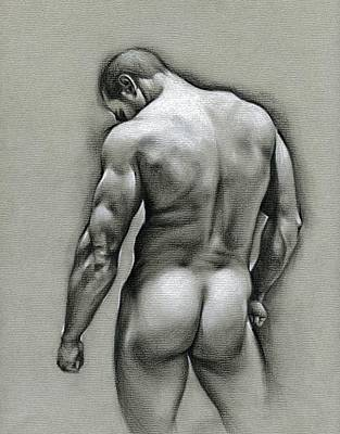 Male Nude Drawing Drawing - Dan by Chris Lopez