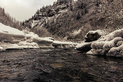 Photograph - Dan Creek Freeze-up by Fred Denner