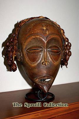 Sculpture - Dan Mask Ivory Coast by Everett Spruill