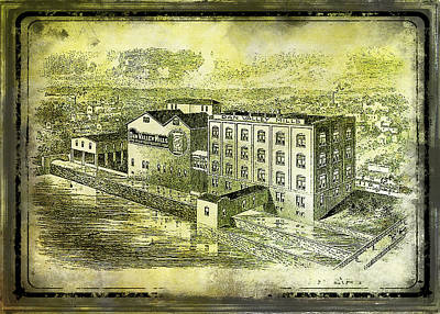 Photograph - Dan River Flour Mill by Lisa and Norman  Hall