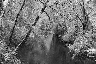 Photograph - Dan River In The Snow by Kathryn Meyer