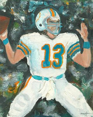 Dan Marino Painting - Dan The Man by Jorge Delara
