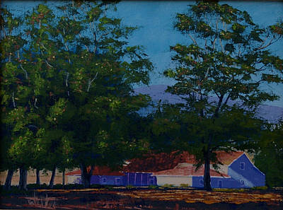Early California Landscape Painting - Dana Adobe Nipomo Ca by Ron Smothers