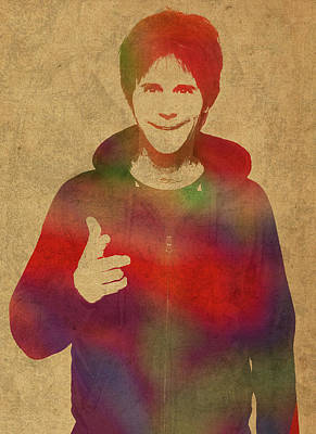 Dana Carvey Comedian Actor Watercolor Portrait On Canvas Art Print