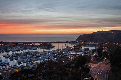 Photograph - Dana Point Harbor Evening Light by Cliff Wassmann
