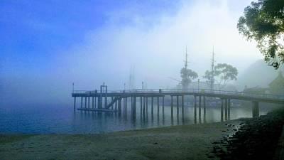 Dana Point Harbor When The Fog Rolls In Art Print