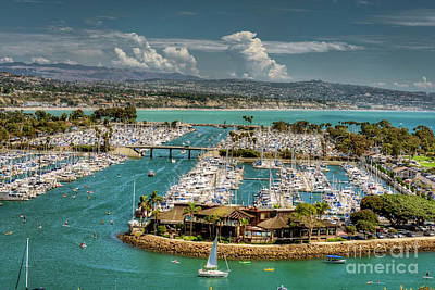 Photograph - Dana Point Marina Aqua Water by David Zanzinger