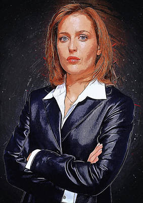 X-files Digital Art - Dana Scully by Semih Yurdabak