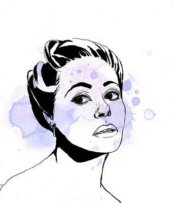 Dana Wynter Art Print by Thelma Kerry