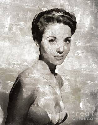 Danae Painting - Dana Wynter, Vintage Actress By Mary Bassett by Mary Bassett