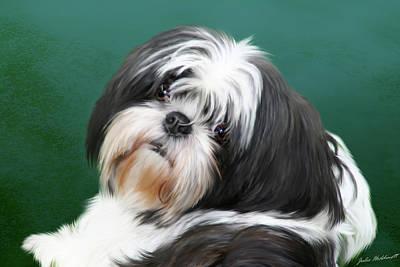 Pet Portraits Digital Art - Danae by Julie L Hoddinott