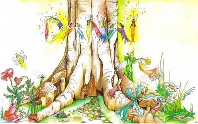 Animal Watercolors Juan Bosco - Danai Fairy Illustration by Catt Kyriacou