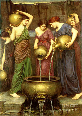 Pouring Painting - Danaides by John William Waterhouse