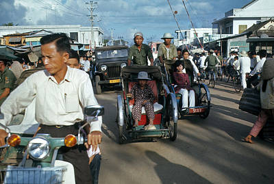 Photograph - Danang Street Traffic by Robert Holden