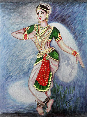 Abstract Krishna Painting - Dance 2 by Harsh Malik