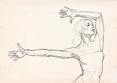 Ballet Wall Art - Drawing - Dance Anatomy by H James Hoff