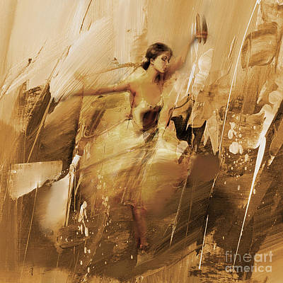 Passionate Painting - Dance Art 02 by Gull G