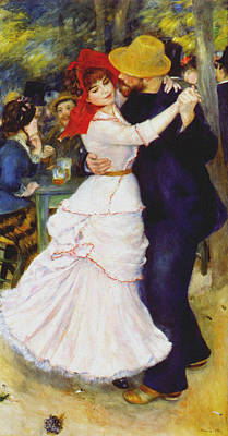 Applause Painting - Dance At Bougival 1883 by Auguste Renoir