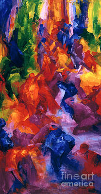Vibrant Painting - Dance by Bayo Iribhogbe