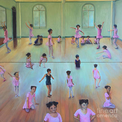 Painting - Dance Class Diptych by Marlene Book