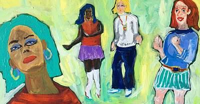 Painting - Dance Club A-go-go by Brenda Pressnall