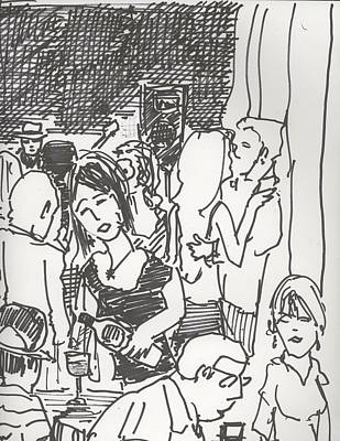 Dance Crowd And Wine Blue Monday Original