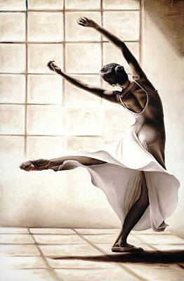 Pointe Painting - Dance Finesse by Richard Young
