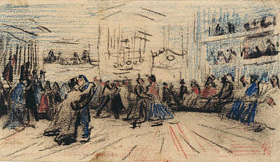 Applause Painting - Dance Hall, 1885 by Vincent Van Gogh