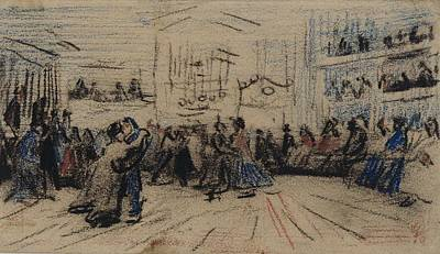 Painting - Dance Hall Antwerp  December 1885 Vincent Van Gogh  1853  1890 by Artistic Panda