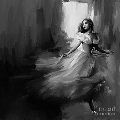 Figurative Painting - Dance In A Dream 02 by Gull G