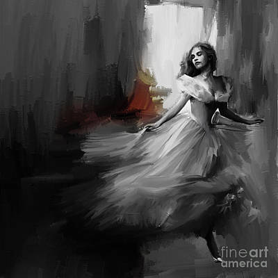 Woman Painting - Dance In A Dream 03 by Gull G