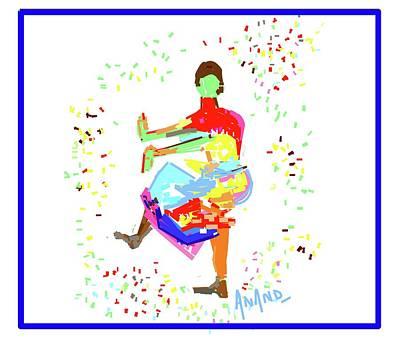 Digital Art - Dance In Colors-3 by Anand Swaroop Manchiraju