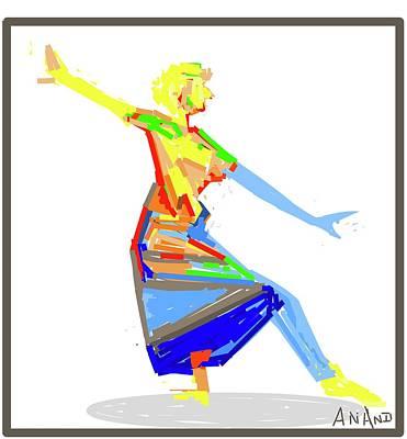 Digital Art - Dance In Colors-5 by Anand Swaroop Manchiraju