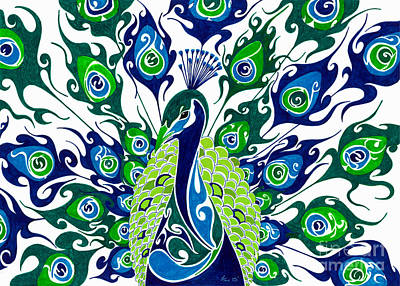 Peacock Painting - Dance In The Rain.. by Anushree Santhosh