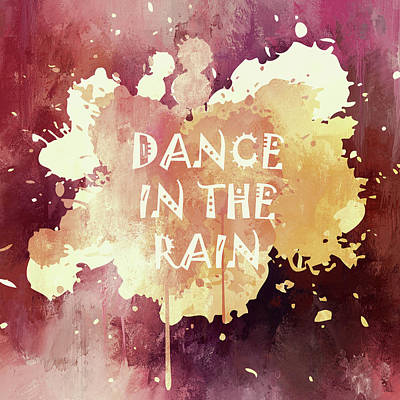 Mixed Media - Dance In The Rain Red Version by Georgiana Romanovna
