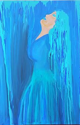Acryllic Painting - Dance In The Rain by Susan Perlman