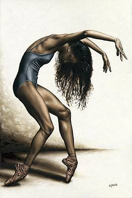 Sports Paintings - Dance Intensity by Richard Young