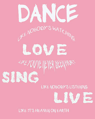 Dance Like Nobody's Watching Art Print by Georgia Fowler