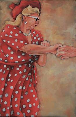 Painting - Dance Like The Lady In The Polka Dot Dress by Jean Cormier