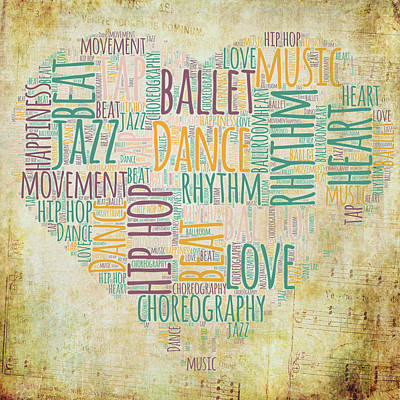 Dance Love V2 Art Print by Brandi Fitzgerald