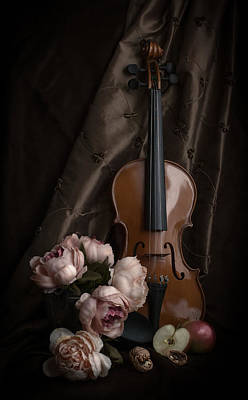 Fiddle Photograph - Dance Me To The End Of Love by Maggie Terlecki