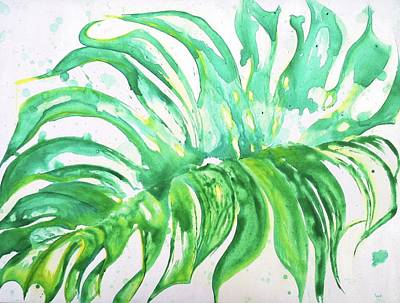 Painting - Dance Monstera Leaf by Kathryn Rone