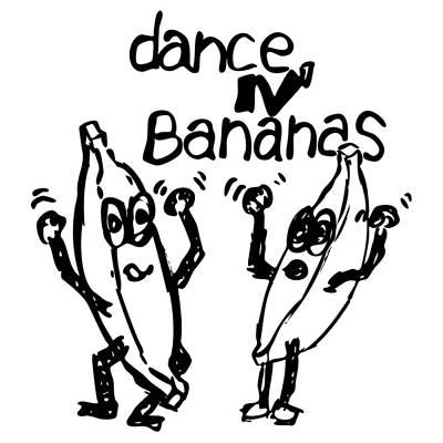 Banana Drawing - Dance N Bananas by Karl Addison