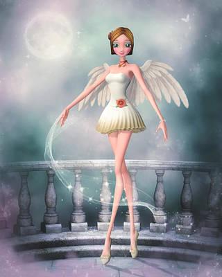 Digital Art - Dance Of An Angel by Brandy Thomas