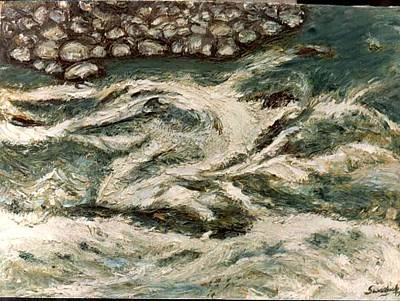 Painting - Dance Of Bhagerathi River by Anand Swaroop Manchiraju