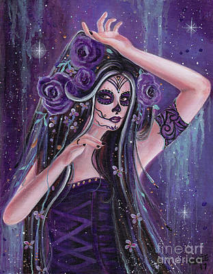Painting - Dance Of Death Day Of The Dead by Renee Lavoie