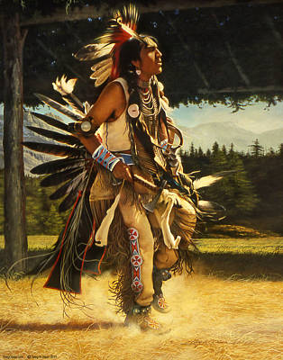 Warrior Wall Art - Painting - Dance Of His Fathers by Greg Olsen