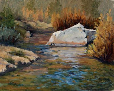 Painting - Dance Of Light On Bishop Creek by Sandy Fisher