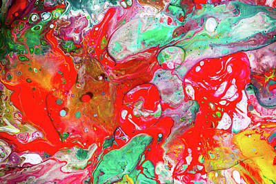 Dance Of Love - Colorful Happy Art Paintings Art Print by Modern Art Prints